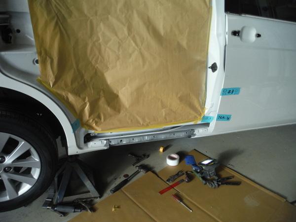 板金塗装の2つの作業工程