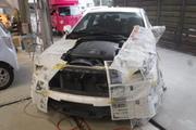 トヨタ マークX 保険事故修理 フード フロントバンパー破損 板金塗装 佐倉市 N様